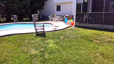 Maryland Before Pool Pavers
